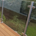 Stainless Steel Posts with glass panel