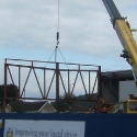 Structural steelwork for Lidl in Port Talbot