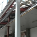 structural steelwork erected onsite