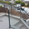 Glass & Mild Steel Balustrade