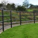 Curved parkland fencing