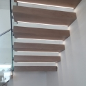 Cantilevered Oak Staircase