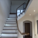 Glass Balustrade with Walnut Handrail