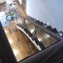 Glass Balustrade with Walnut Handrail