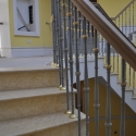 Mild Steel and Brass Balustrade with a Walnut Handrail