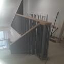 Metal railing to Precast Stairs
