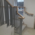 Metal railing to Precast Stairs