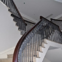 Wooden Handrail with Metal Rail
